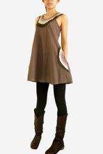 Load image into Gallery viewer, Loose Casual Cotton Sleeveless Blouse with Pockets - Brown