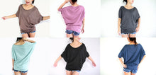 Load image into Gallery viewer, Wide Neck Dolman Sleeves Tops