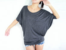 Load image into Gallery viewer, Wide Neck Gray Dolman Sleeves Tops