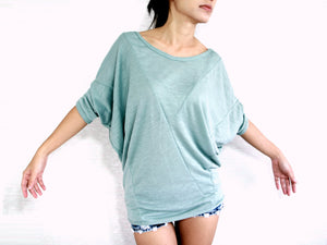 Women Dolman Sleeves Mint Tops