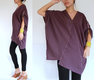 Women Oversized Lavender Summer Boho Tops