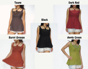 Women Halter Neck & Crochet Lace Tops