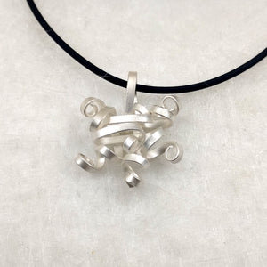 QuaDDaM - Sterling Silver pendant, available in 3 finishes