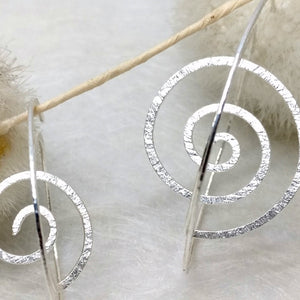 ZiMMt - 3D Sterling Silver hoops, hand made in 2 sizes