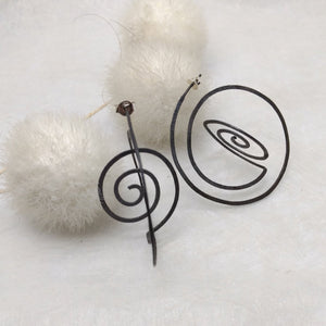 ZiMMt - 3D Sterling Silver hoops with a black finish, available in 2 sizes