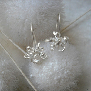 QuaDDaM - Sterling Silver dangle earrings, available in 3 finishes
