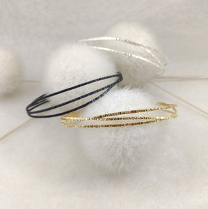ZusZa - thin Sterling Silver Bangle, available in 3 finishes