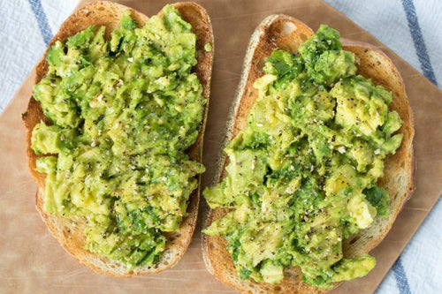 Food: Avocado on Rye Toast