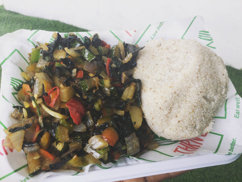 Food: Acha Swallow with Greens