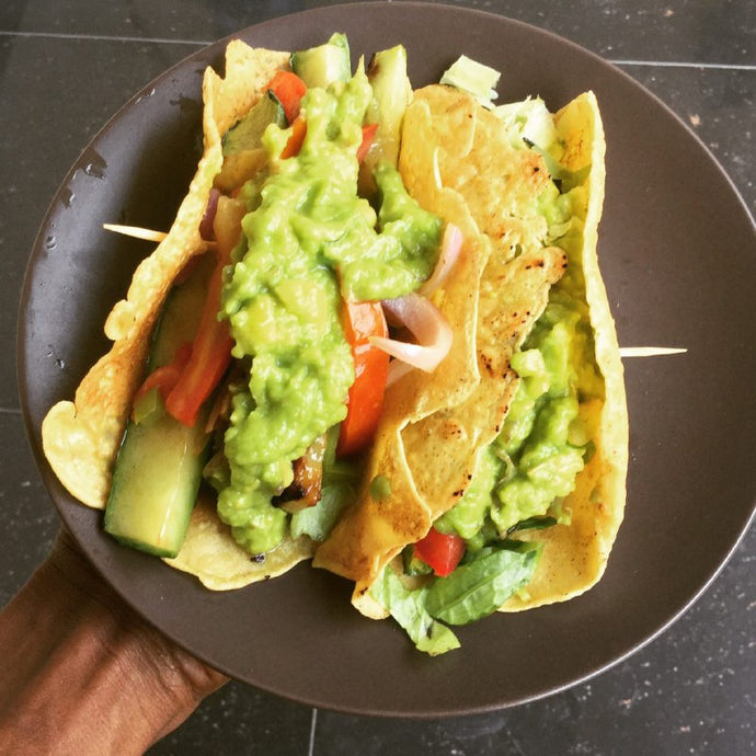 Food: Roasted Zucchini & Guacamole Tacos