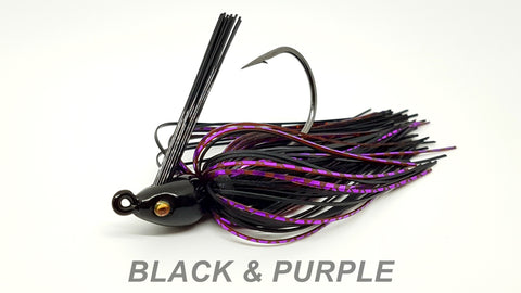 "#15 ""Black & Purple"" Swim Jig"