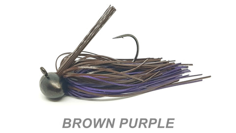 "#35 ""Brown Purple"" Football Jig"