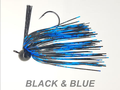 "#40 ""Black & Blue"" Football Jig"