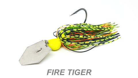 "#44 ""Fire Tiger"" Bladed Jig"
