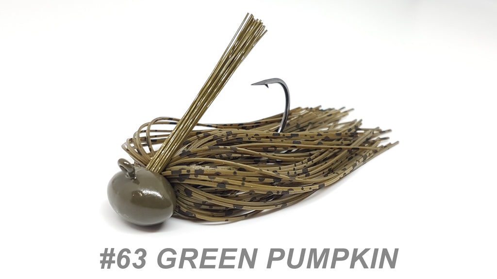 "#63 ""Green Pumpkin"" Football Jig"