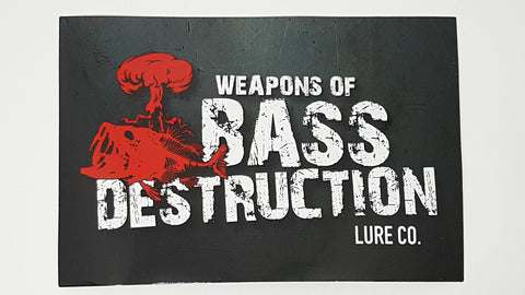 Weapons Of Bass Destruction Lure Co Decal