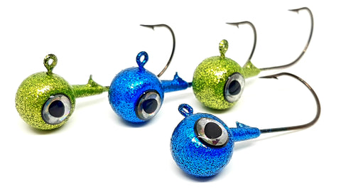 "Fish-Eye Jig ""Assorted Blue & Lime"""