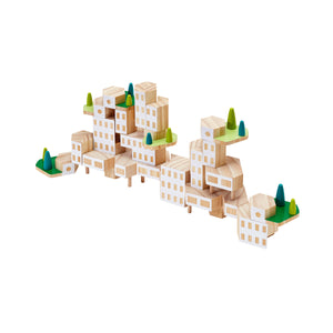 areaware blockitecture garden city on white background
