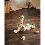 areaware blockitecture garden city on rustic wooden floorboards