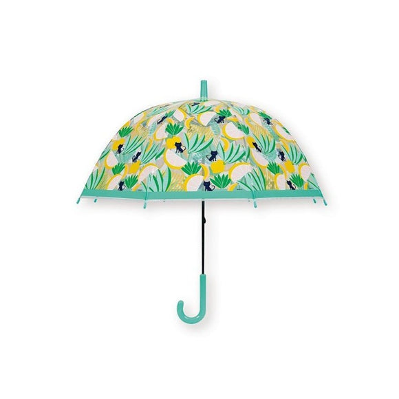 bandjo umbrella kid jungle cat green