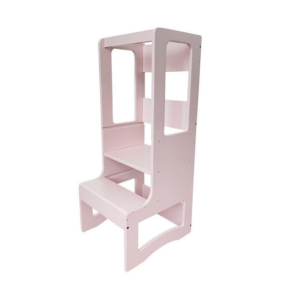 my happy helpers evo slimline adjustable learning tower blush