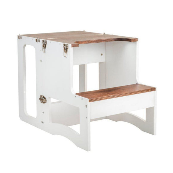 my happy helpers tavolo convertible learning tower table white walnut