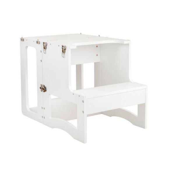 my happy helpers tavolo convertible learning tower table white