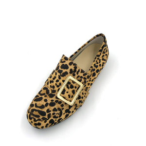 Comfortable Leopard Print Loafer Shoes with Arch Support and Orthotic Friendly, Suitable for Wide feet and Plantar Fasciitis