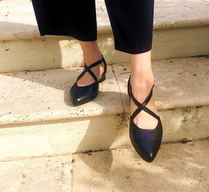 Black ballet flats, arch support, wide feet friendly, comfortable work shoe, shoes for office