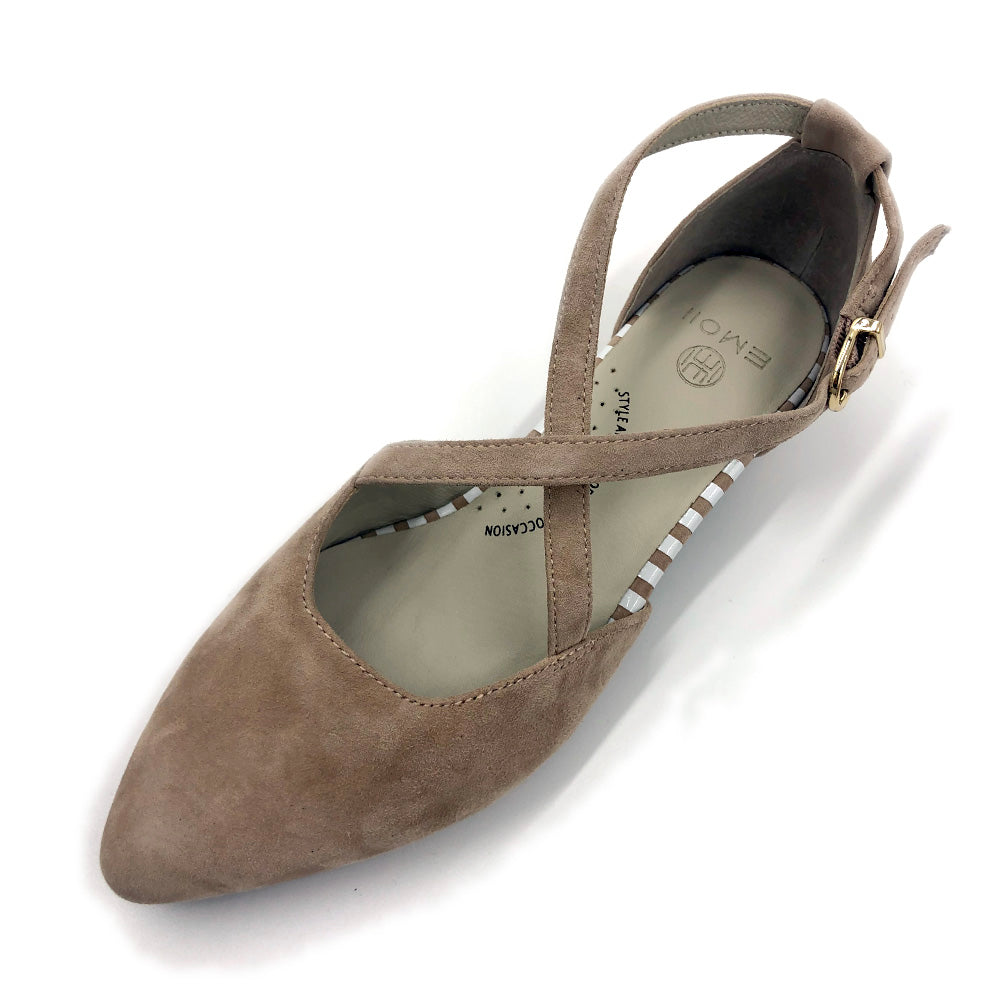 Beige flat shoes, neutral colour, arch support, wide foot, comfortable work shoe, shoes for office