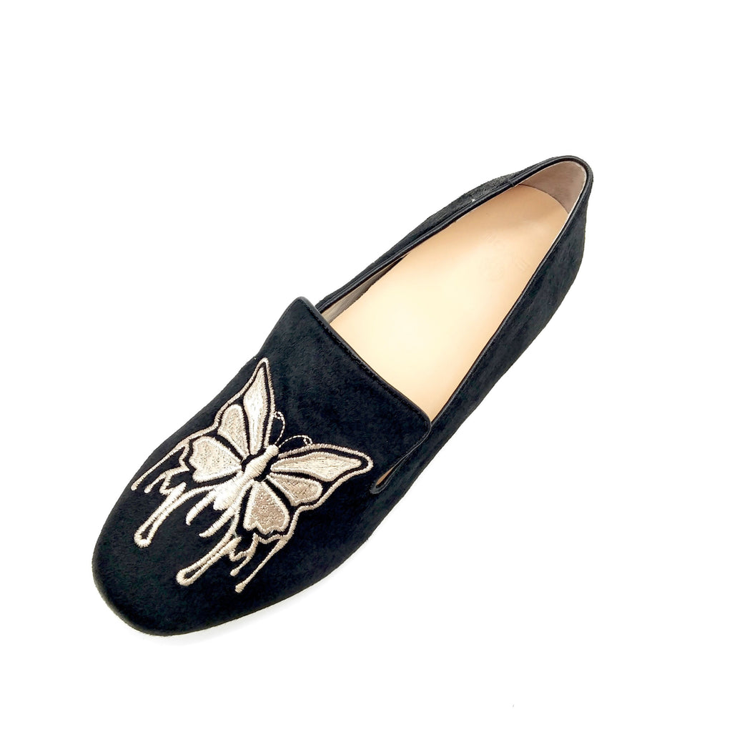 Comfortable Black Loafer with Arch Support and Orthotic Friendly, Suitable for Wide feet and Plantar Fasciitis