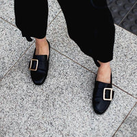 Comfortable Black Loafer Shoes with Arch Support and Orthotic Friendly, Suitable for Wide feet and Plantar Fasciitis