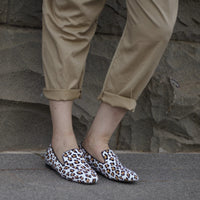 Comfortable Leopard Print Loafer with Arch Support and Orthotic Friendly, Suitable for Wide feet and Plantar Fasciitis