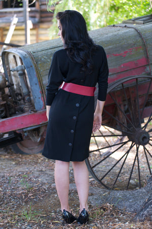 Classic Black Wool Dress