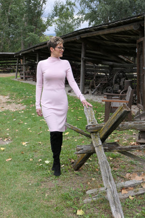 4023 - Long Sleeve Pink Dress