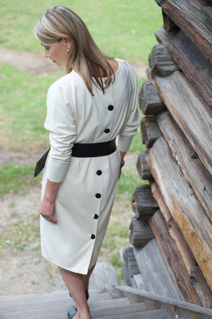 Classic White Wool Dress
