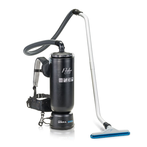 "Powerful Lightweight Prolux 10 Quart Backpack Vacuum w/ 1 1/2"" Tool Kit"