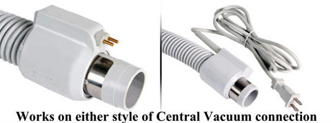 Most powerful electrically powered Universal Fit Whole-Home Central Vacuum Hose system & Power Head