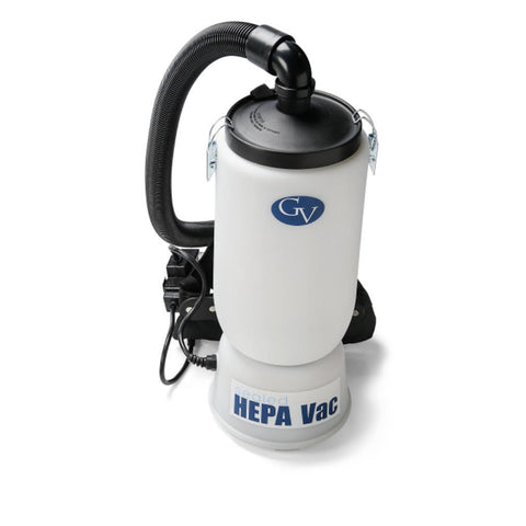 "New GV 6qt HEPA Backpack Vacuum with professional 1 1/2"" tool kit Commercial Restaurant Industrial"
