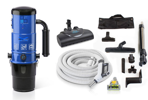 Central Vacuum Unit w/ Powerful 2 Speed Motor, Prolux Hose Kit, and 25 Year Warranty by Prolux
