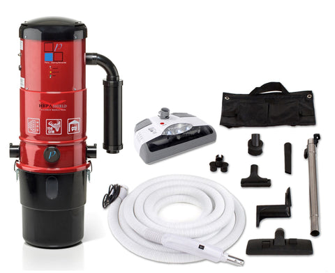 Central Vacuum Unit w/ Powerful 2 Speed Motor, Hose Kit and 25 Year Warranty by Prolux. Red, White or Blue it's up to you!