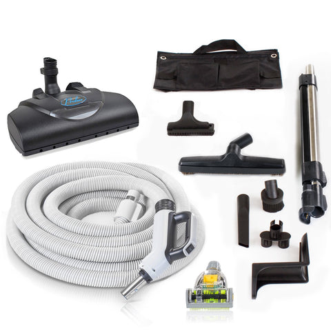 Scratch and Dent Premium Prolux 35 ft Universal Central Vacuum Hose Kit With Wessel Werk Power Nozzle (DIRECT CONNECT)