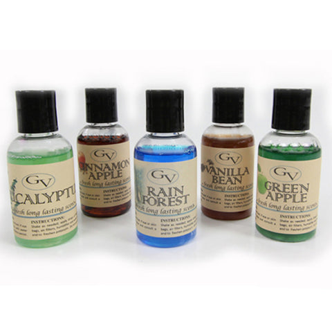 5 pack of Fragrances (add a few drops to your vacuum for a great smell) 2 oz bottles