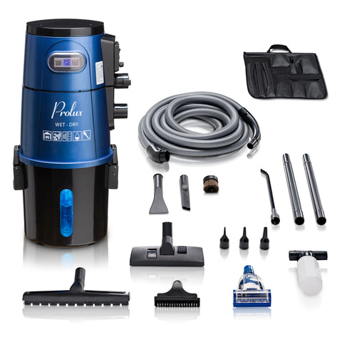 Blue Professional Grade Wall Mountable Wet / Dry Garage and Shop Vacuum by Prolux