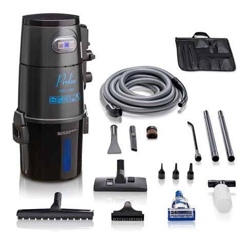 Grey Professional Grade Wall Mountable Wet / Dry Garage and Shop Vacuum by Prolux