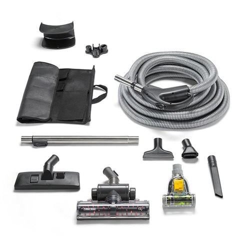 Universal Fit GV 30 foot Whole-Home Central Vacuum Hose system with Turbo Nozzles.
