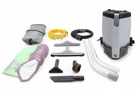 Used Save 40% Commercial ProVac FS6 Backpack Vacuum Cleaner w/ Lifetime Warranty by ProTeam