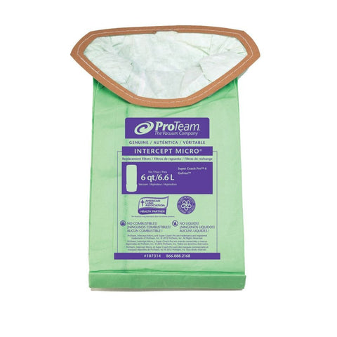 10 Pack of Genuine Proteam Provac FS6 Bags
