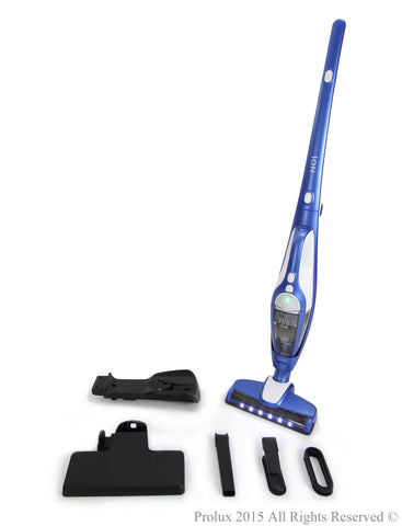 Battery powered lightweight hand held / upright Prolux ION stick vac