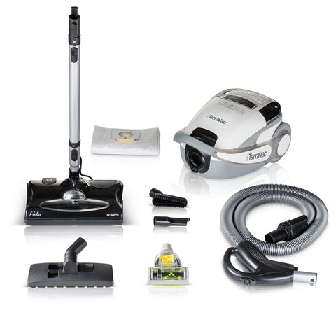 5 Speed Quiet Prolux TerraVac Canister Vacuum Cleaner w/ Sealed HEPA Filter & 3 YR Warranty